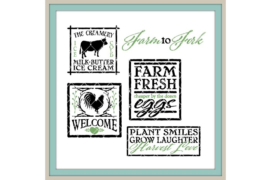 Farmhouse Style Big Bundle LLBB002 Cut files in SVG DXF EPS AI JPG PNG example image 3