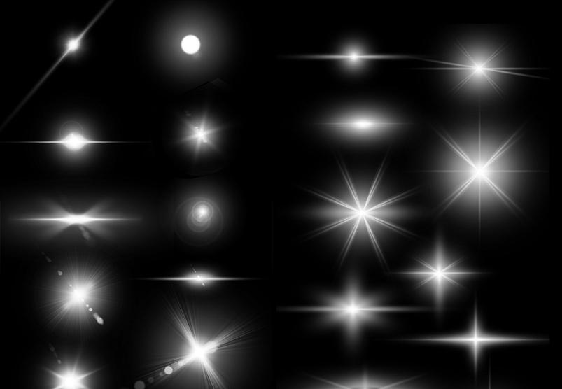 Lens Flare & Stars Photoshop Brushes example image 3