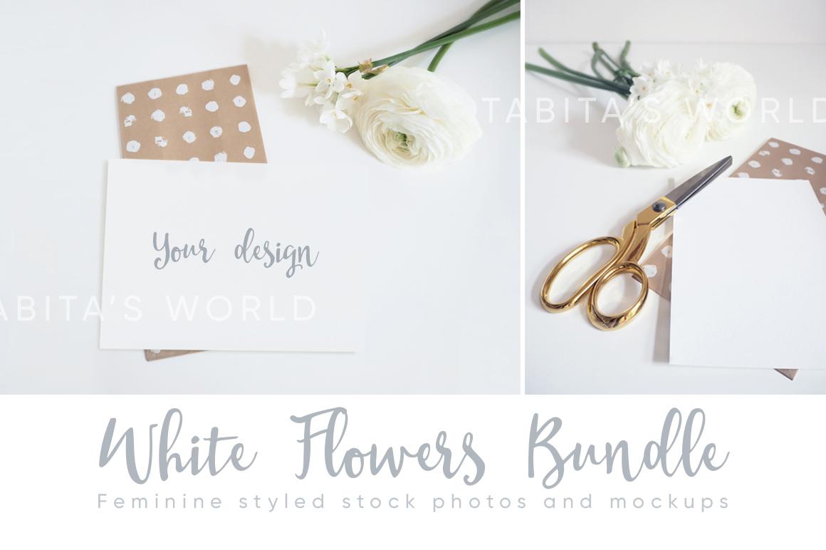 The White Flowers mock ups & photos bundle example image 3
