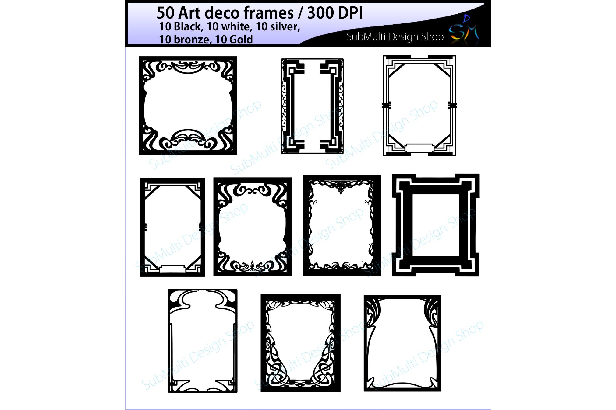 art deco frames / art deco frames clipa   Design Bundles
