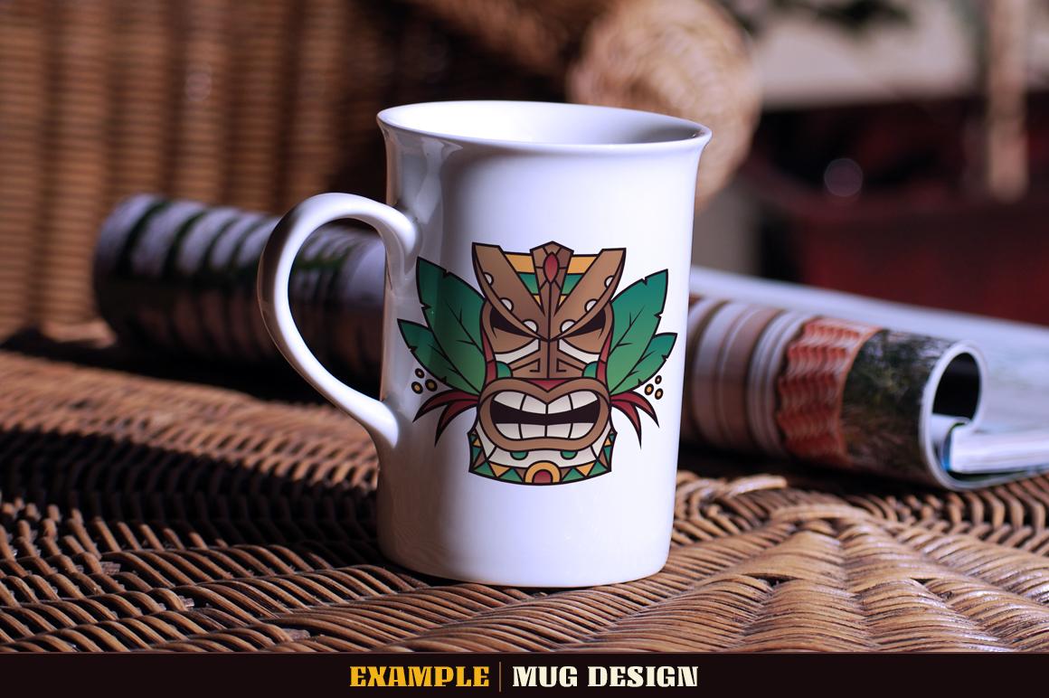 Tiki Head Illustrations Set example image 11