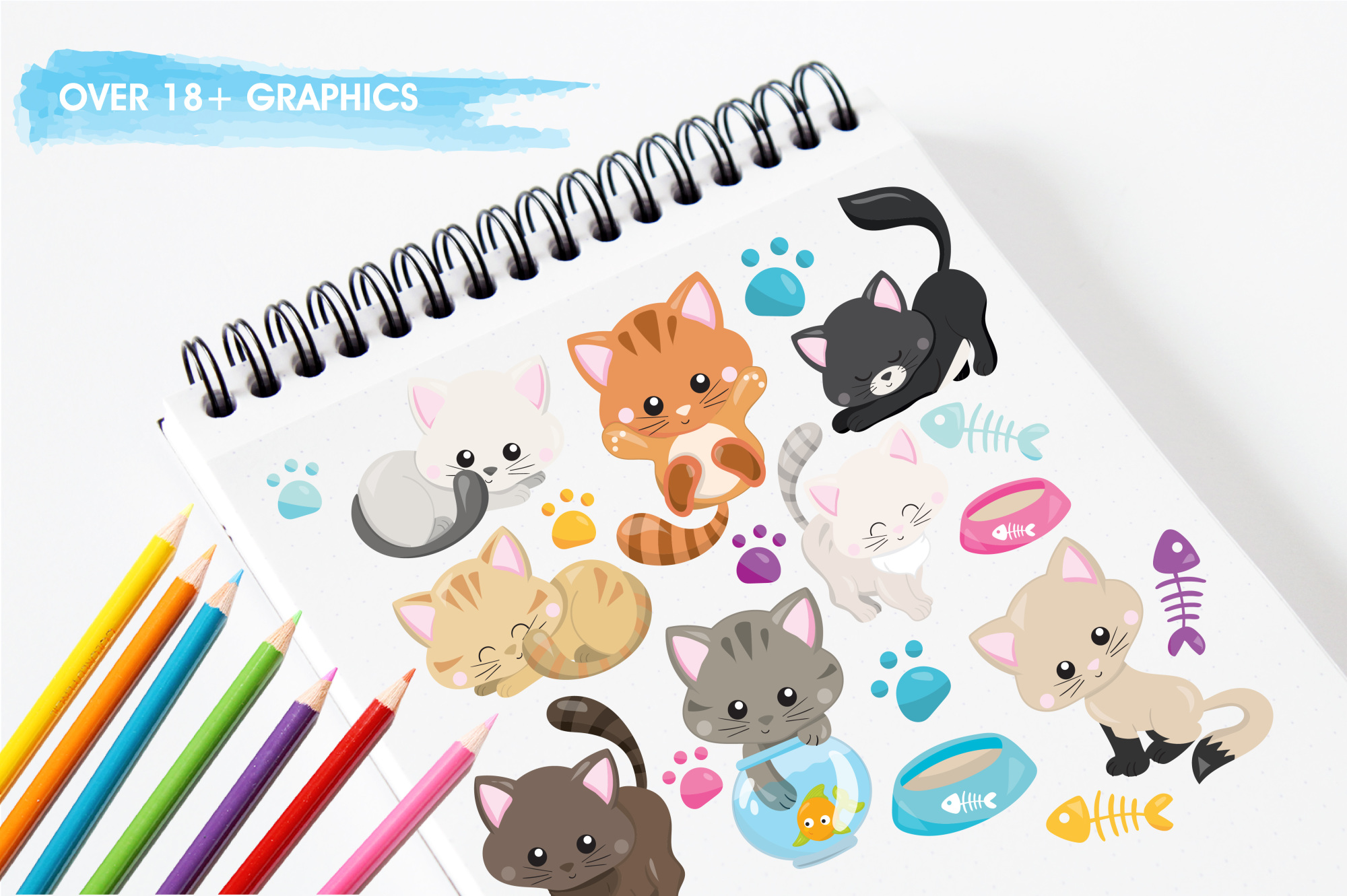 Adorable Kitties graphics and illustrations example image 3