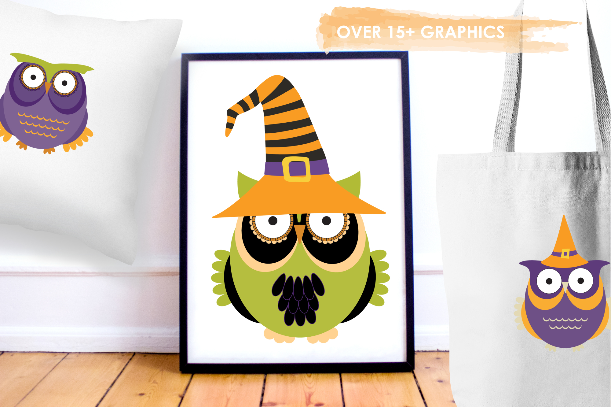 Halloween Owls graphics and illustrations example image 5
