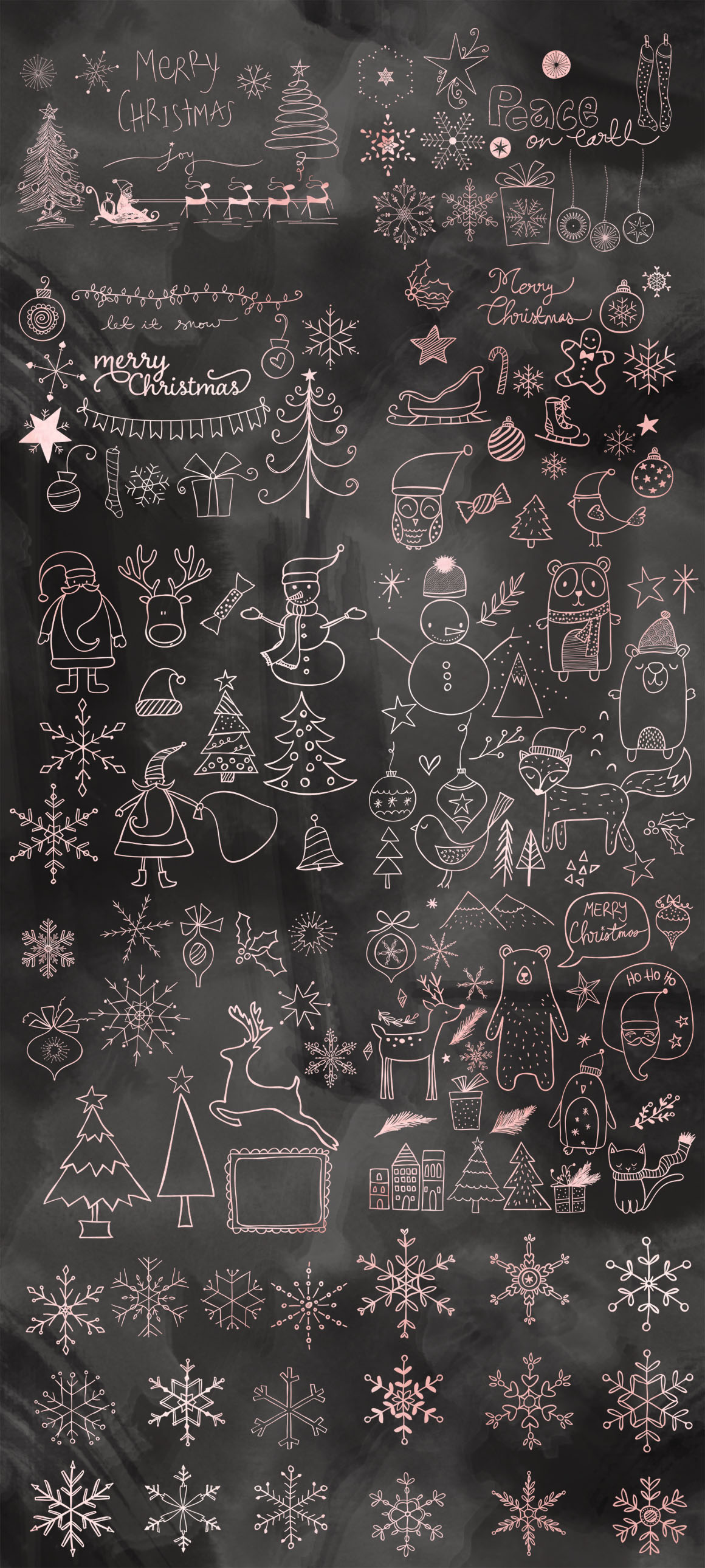 Christmas Doodles Mega Pack example image 2