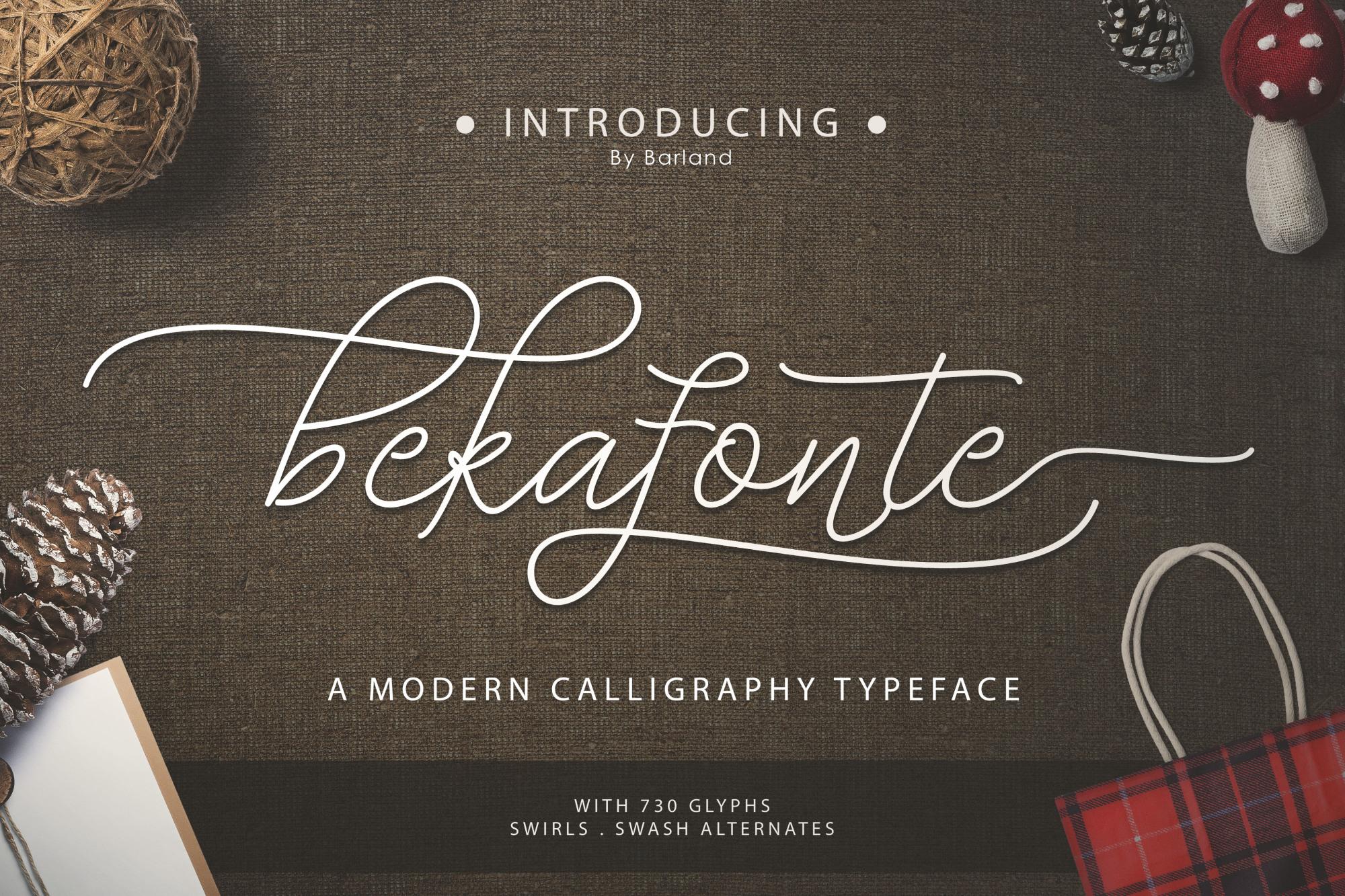 Bekafonte Typeface - New Update example image 1