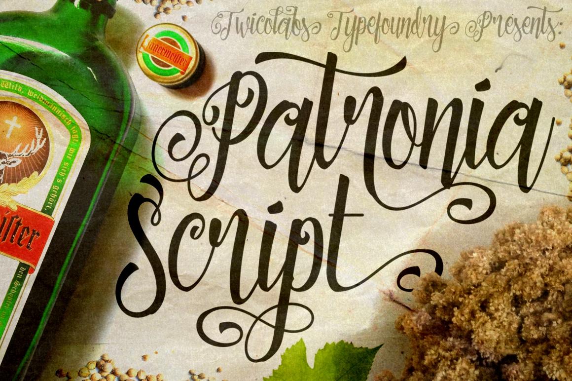 Patronia Script example image 1