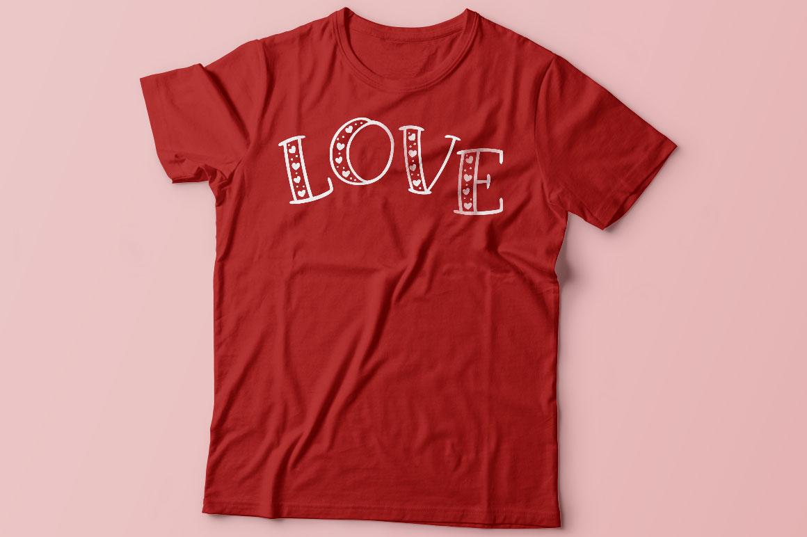 Big Sweetie - love t-shirt mockup idea