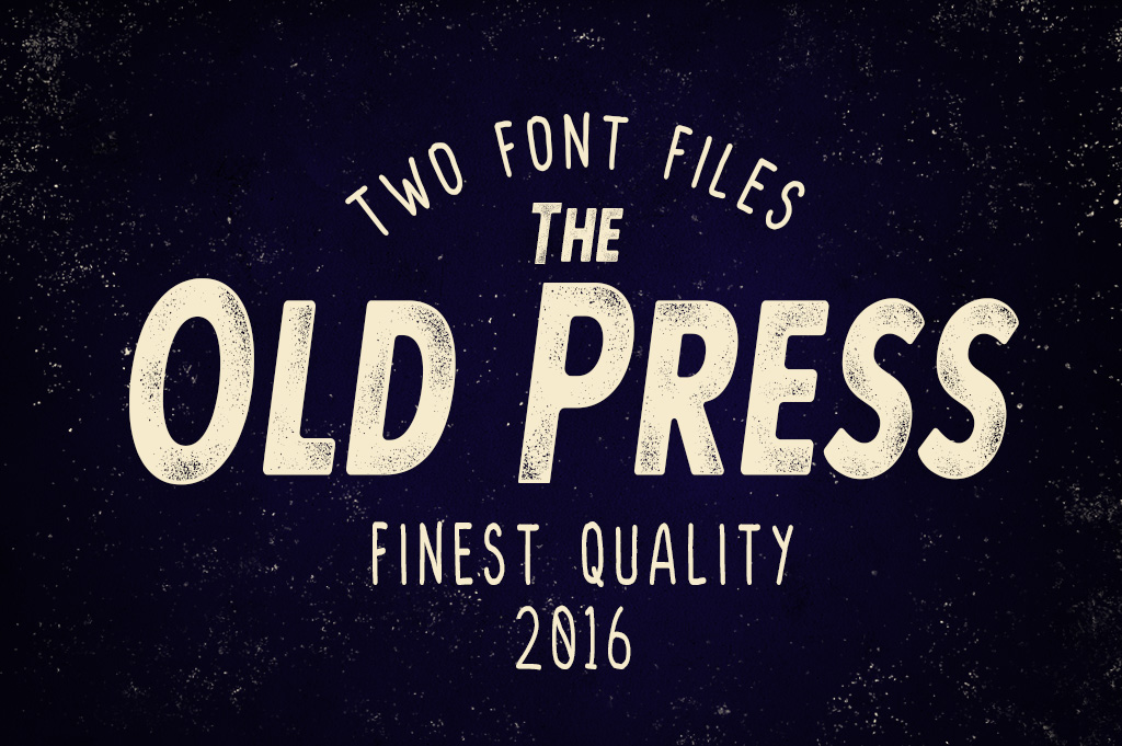 Old Press Two Styles  example image 1