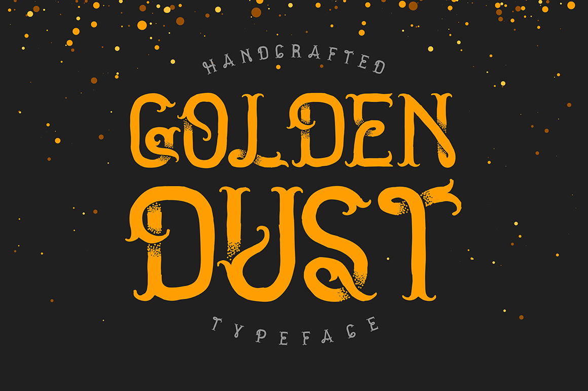 Golden dust typeface example image 1