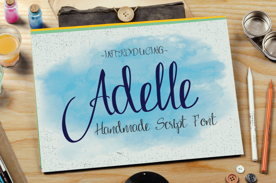 Adelle Script Typeface example image 1