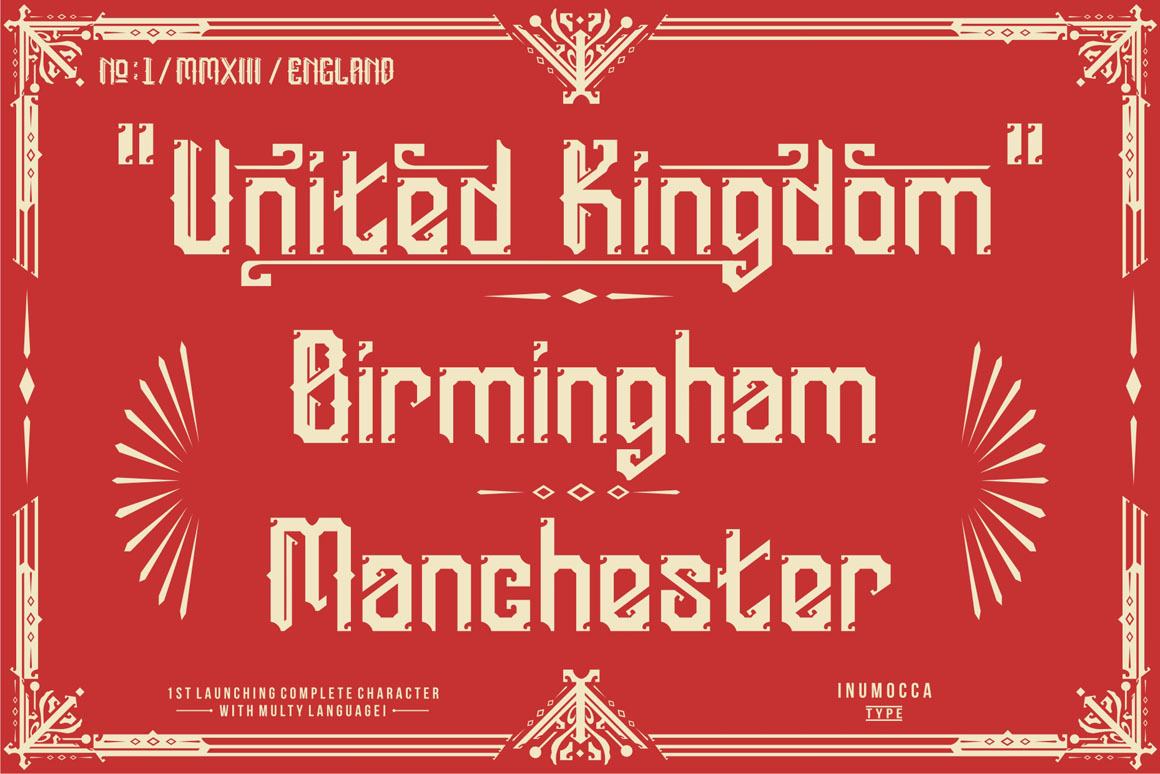 England + Poster vector example image 6