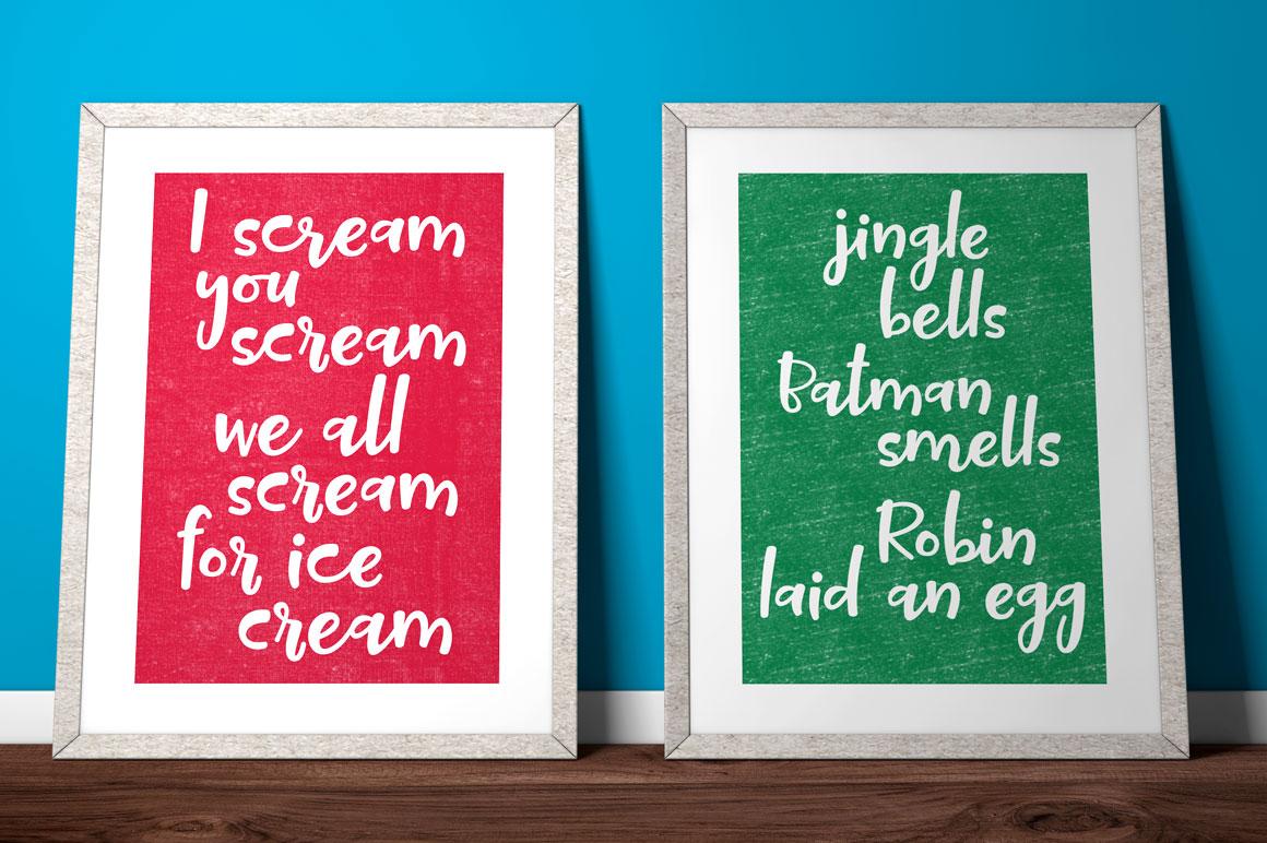 Tallsy Smalls: framed poster print idea mockup