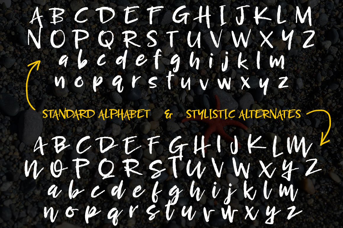 Breezy Beach: regular alphabet