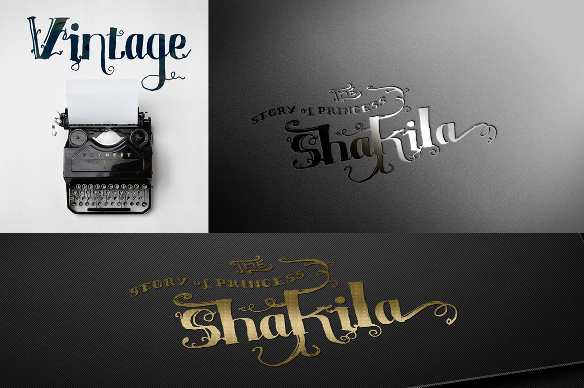 Shakila Typeface Hand Drawn Ornament example image 4