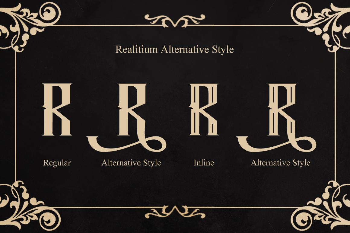 Realitium Font example image 3