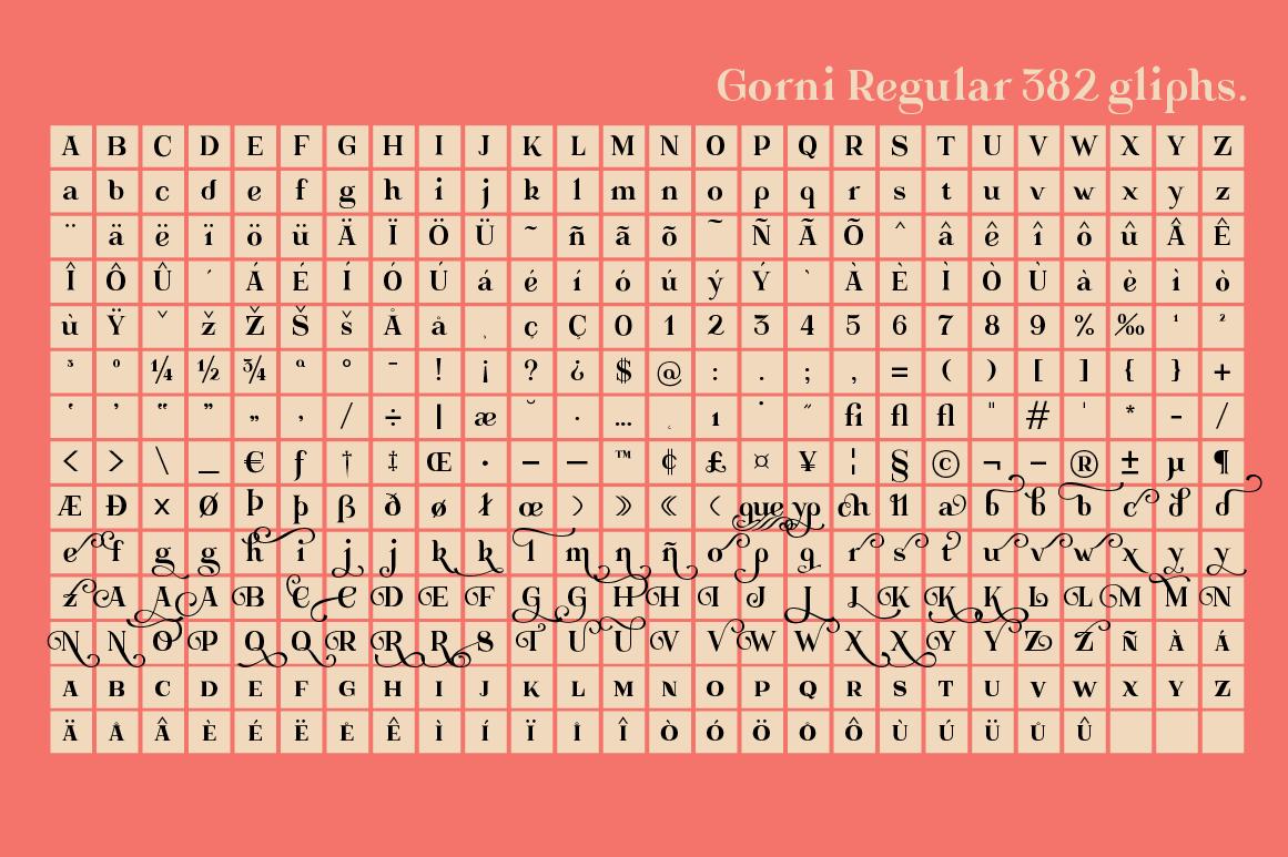Gorni Typeface example image 6