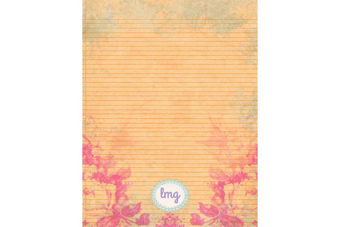 Spring Linen Journal Papers example image 4