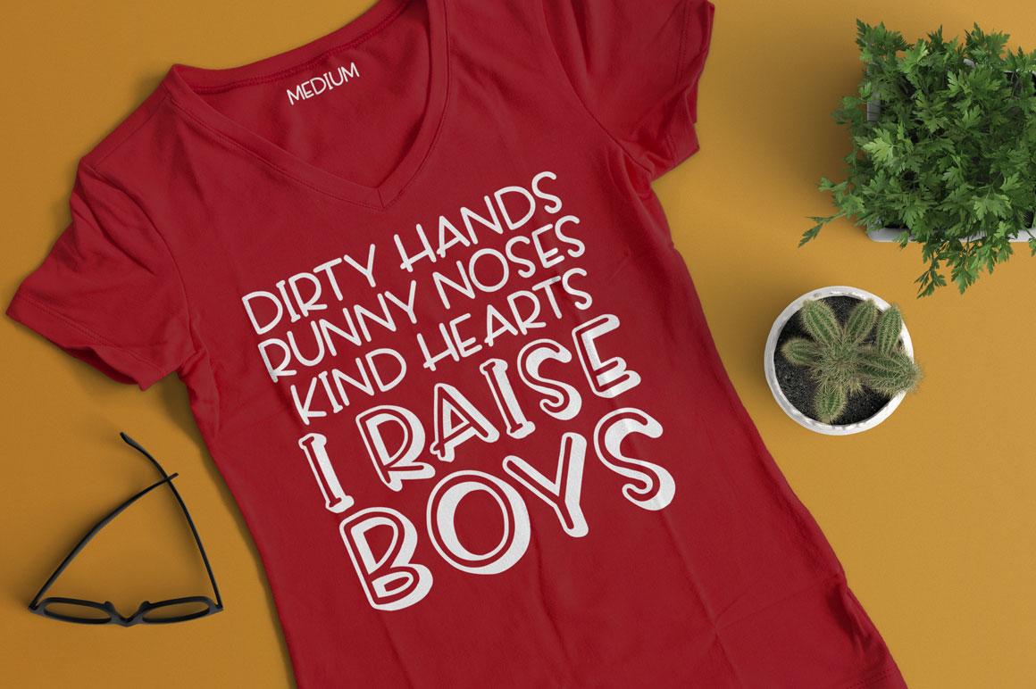 Scamper: mom kids t-shirt mockup