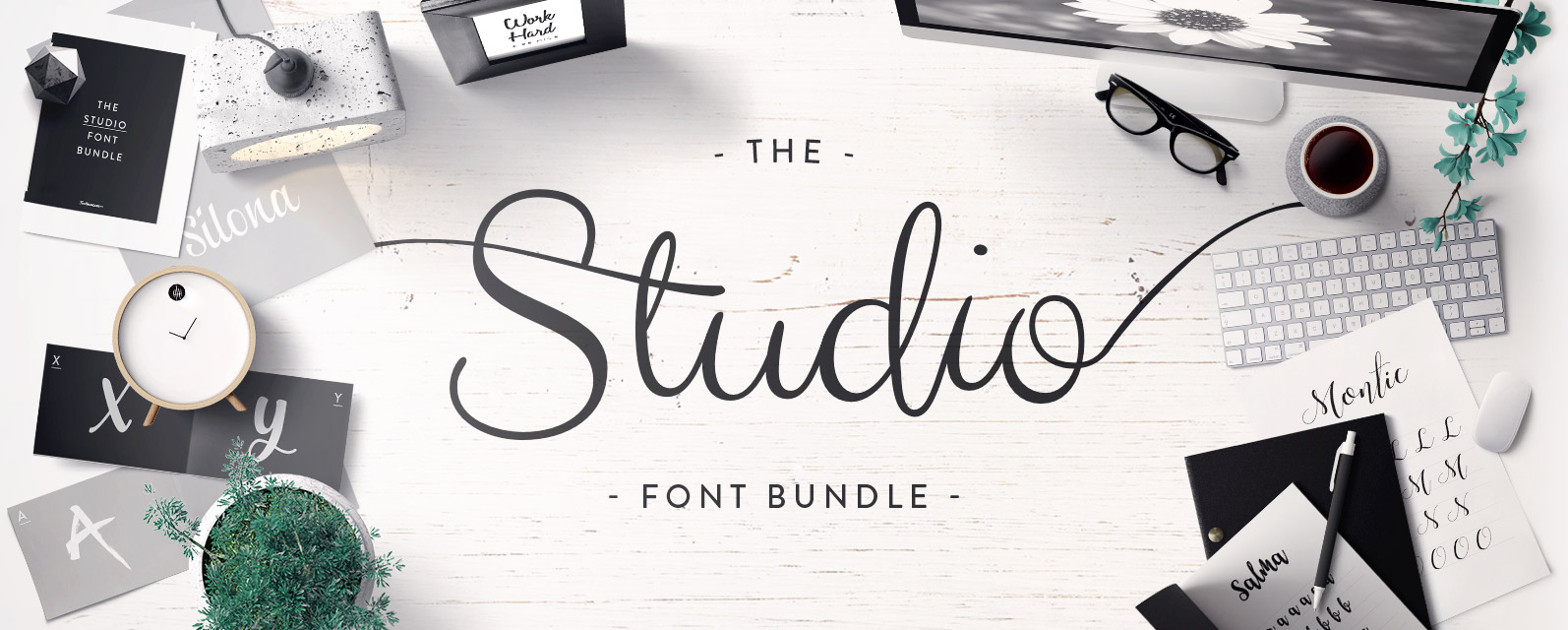 The Studio Font Bundle Cover