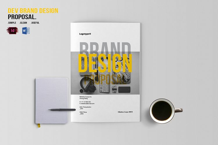 Dev Brand Design Proposal Template By B  Design Bundles