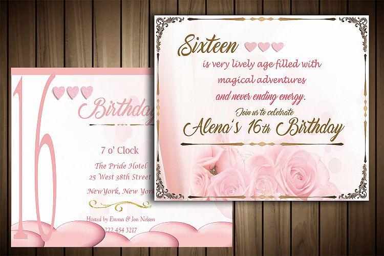 Birthday Invitation Card By Master Grap Design Bundles