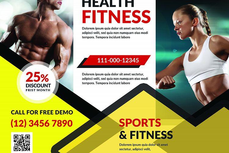 Fitness brochure by sanaimran design bundles for Fitness brochure design