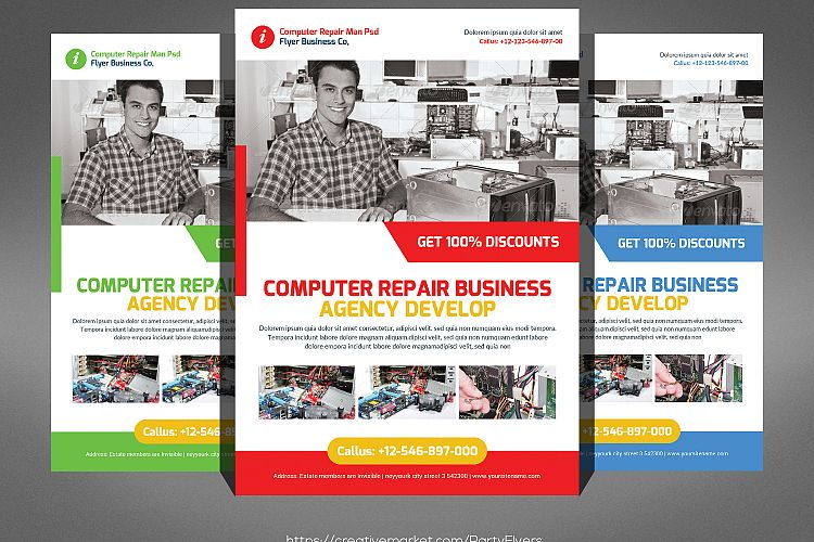 Computer Repair Flyer By Business Templ Design Bundles