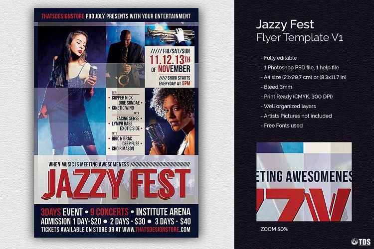 Jazzy Fest Flyer Template V1 By Tdstore Design Bundles