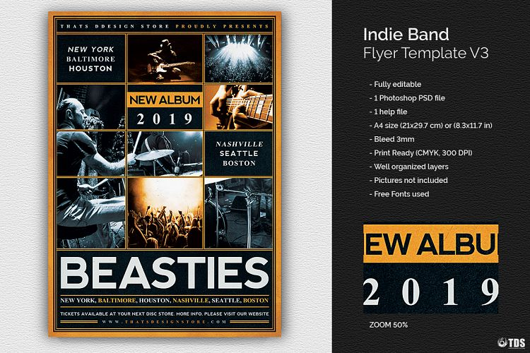 Indie Band Flyer Template V By Tdstore  Design Bundles