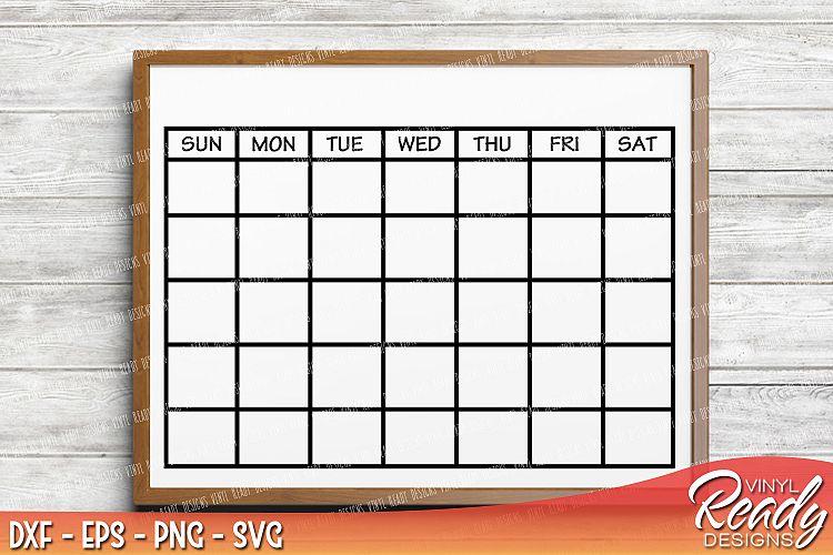 Monthly Calendar Template Vector Clip Design Bundles