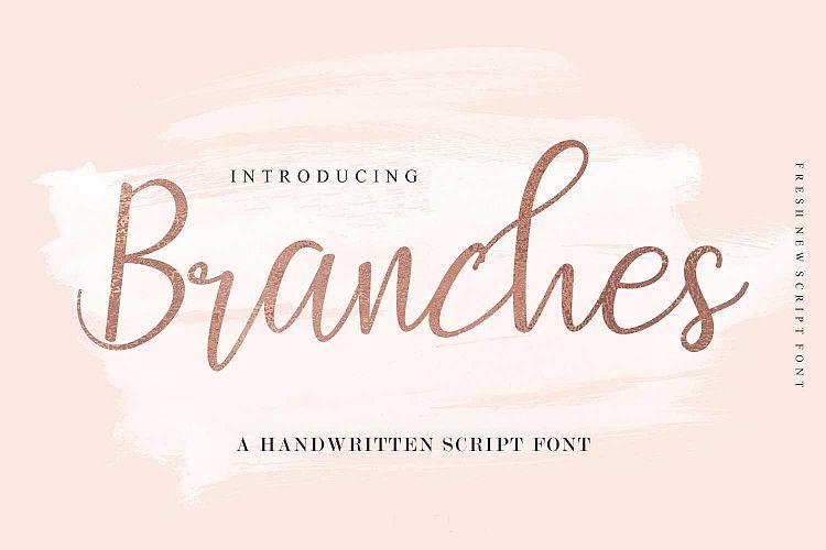 branches handwritten script wedding font