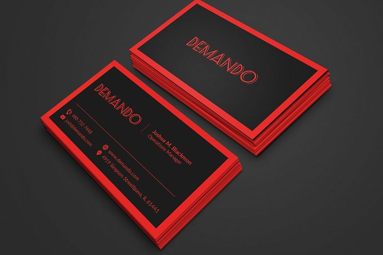 Black and red business card by fancy fo design bundles viewing product black and red business card colourmoves