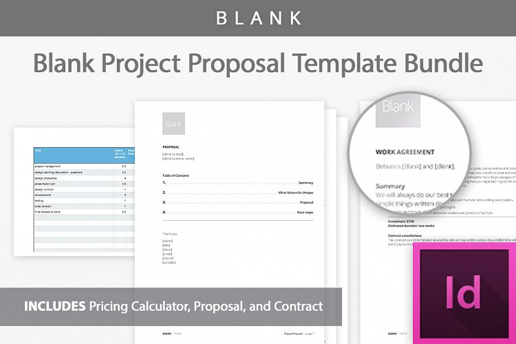 Project Proposal Template Kit By Bootst  Design Bundles