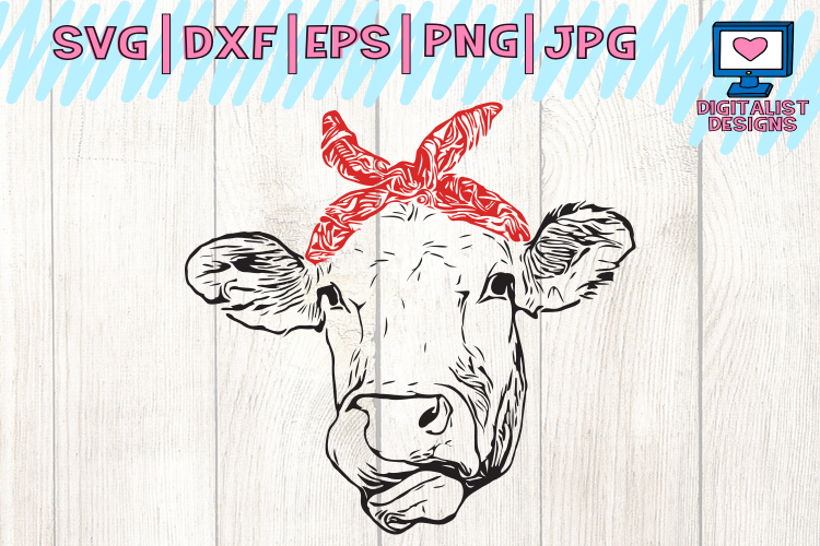 Download Cow svg, cow clipart, cow face svg, svg | Design Bundles