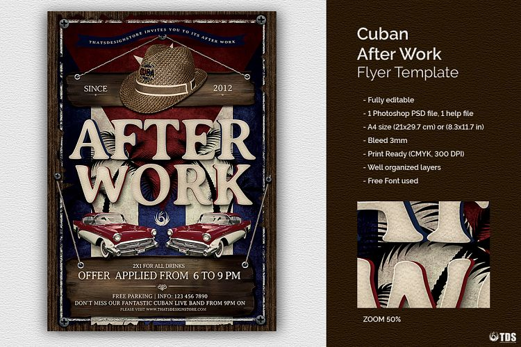 Cuban After Work Flyer Template By Tdst Design Bundles