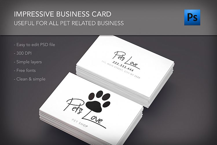 Pet lovers shop clinic business card by design bundles viewing product pet lovers shop clinic business card reheart Gallery