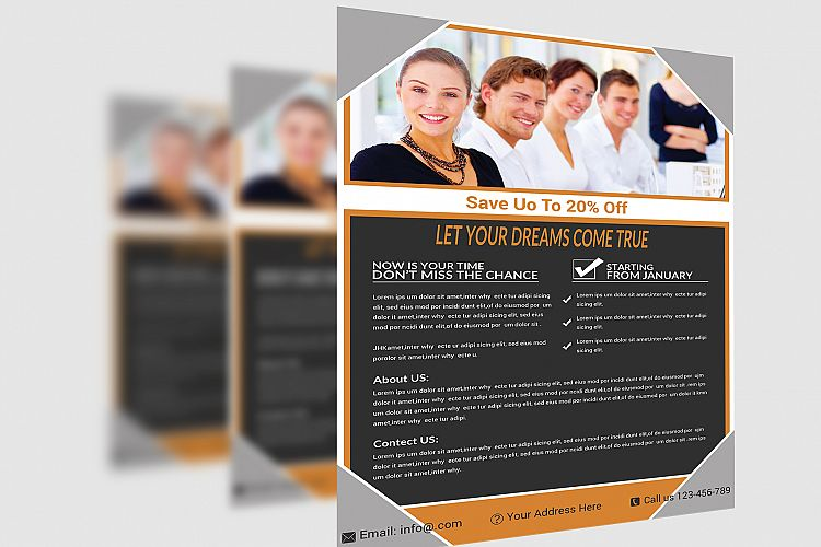 Corporate Flyer Template By DilG  Design Bundles