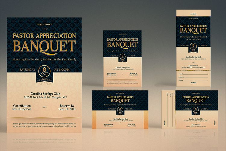 Pastor Appreciation Banquet Template Bu | Design Bundles