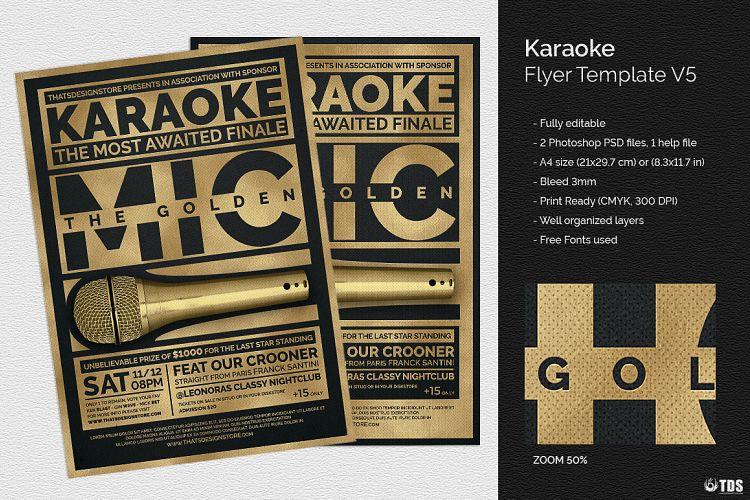 Karaoke Flyer Template V5 By Tdstore Design Bundles
