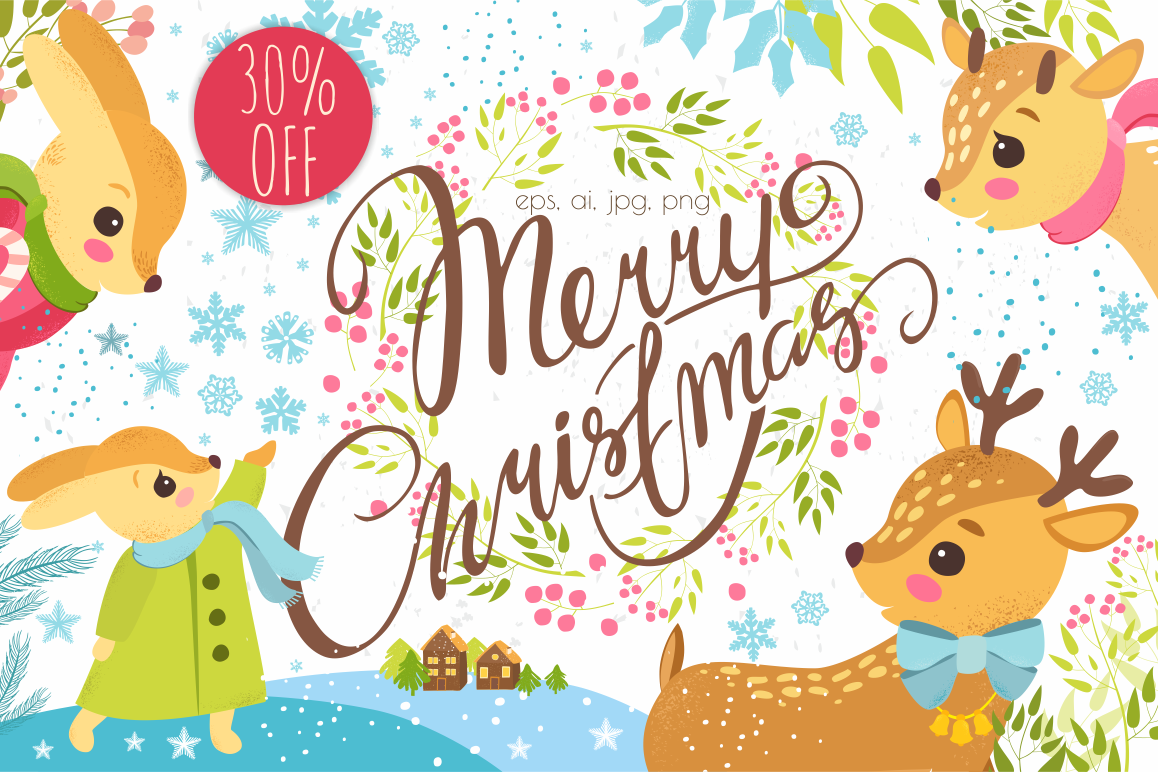 30% OFF. Merry Christmas set. example image
