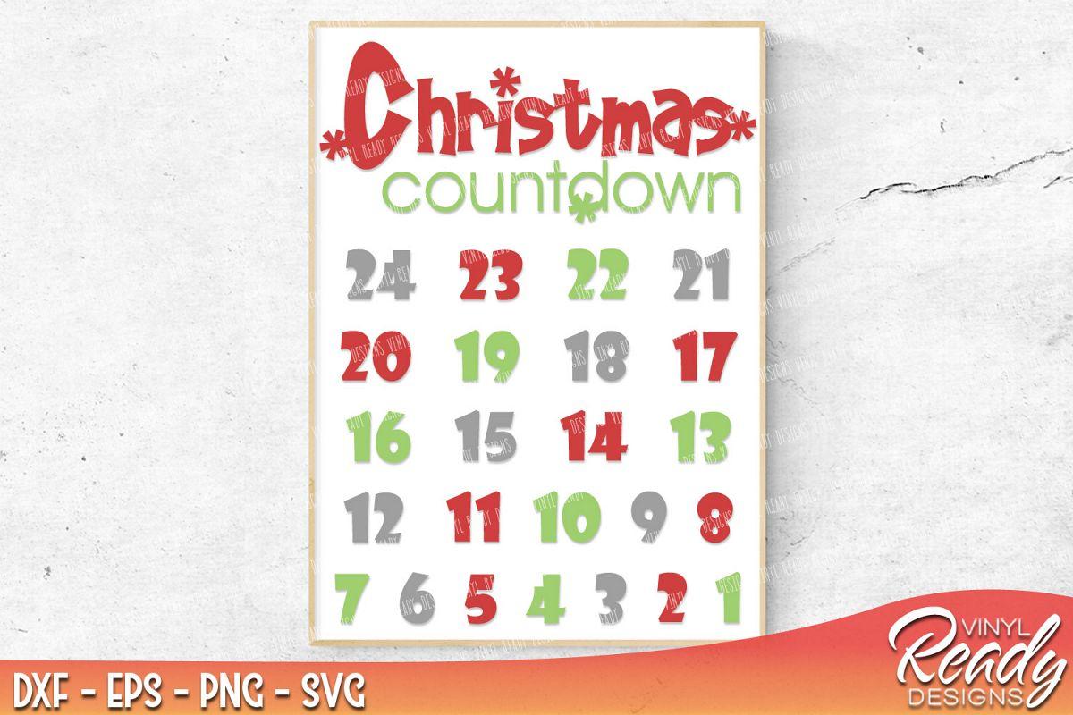 vinyl calendar template - christmas countdown calendar template design bundles
