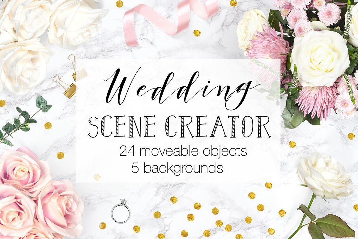 Wedding Scene Creator Top View - Movable Mockup example image