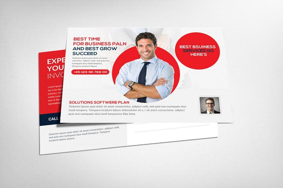 Business Postcard Psd by Business Templ | Design Bundles