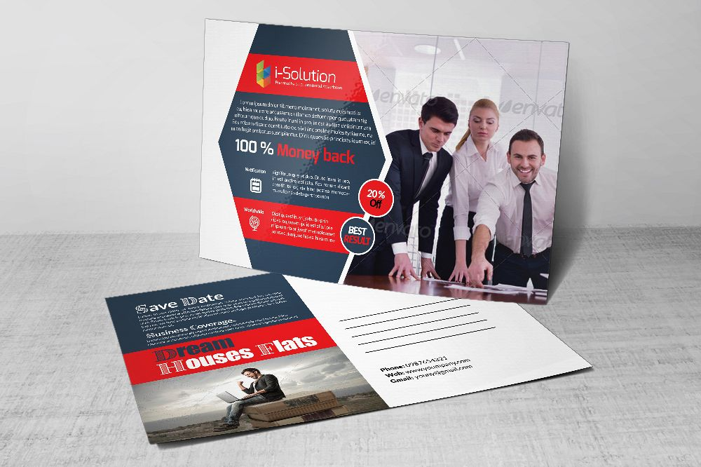 Business Postcards Templates by Designh | Design Bundles