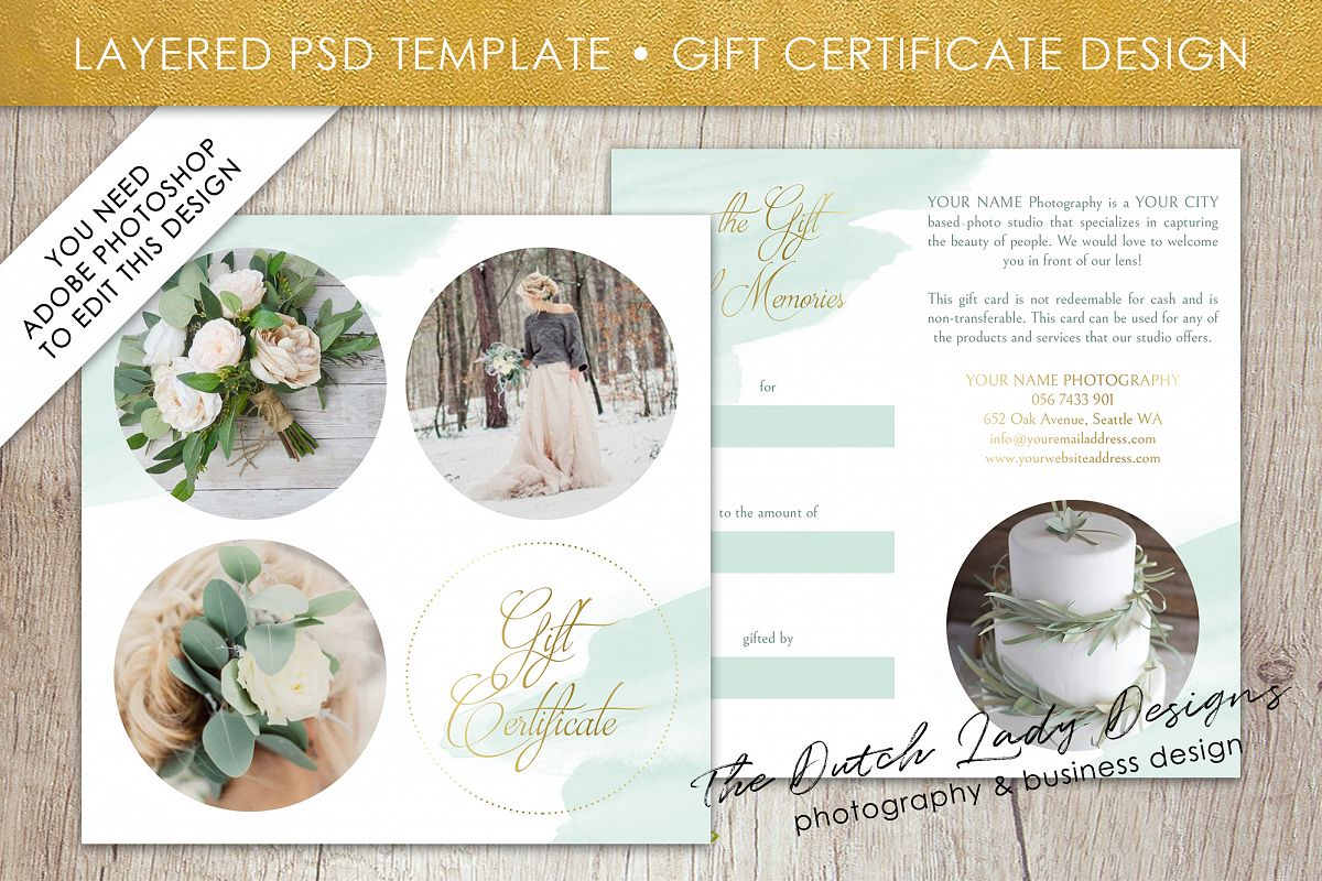Photo gift card template for adobe phot design bundles photo gift card template for adobe photoshop layered psd template design 39 example yelopaper Gallery