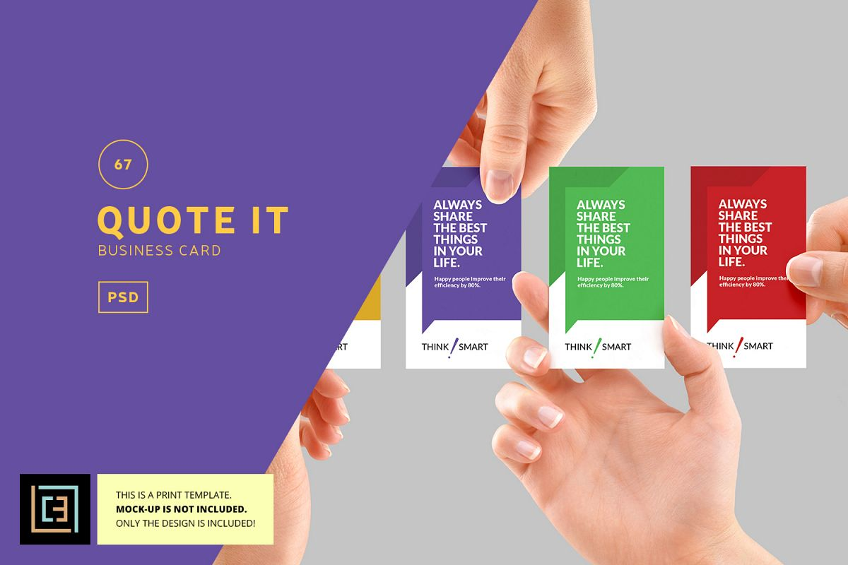 Quote it business card bc067 by coole design bundles quote it business card bc067 example image reheart Images
