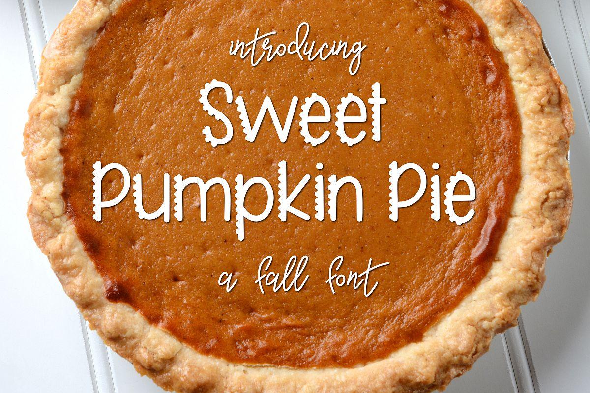 Sweet Pumpkin Pie example image