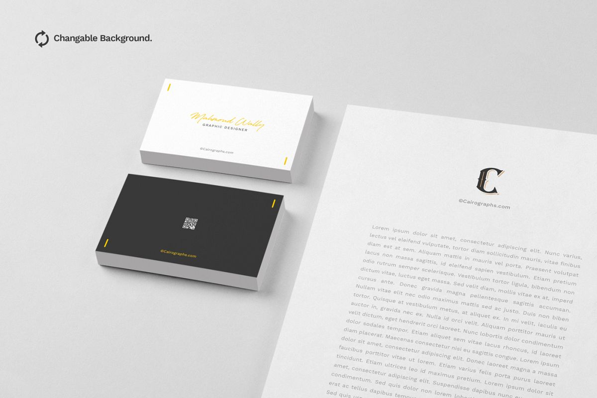 Business card mockups vol2 by cairogra design bundles business card mockups vol2 example image reheart Image collections