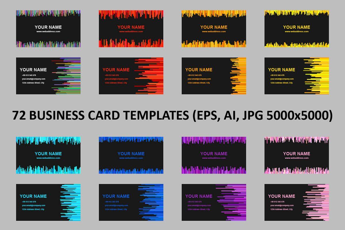 72 business card templates ai eps jp design bundles 72 business card templates ai eps jpg 5000x5000 example image accmission Images
