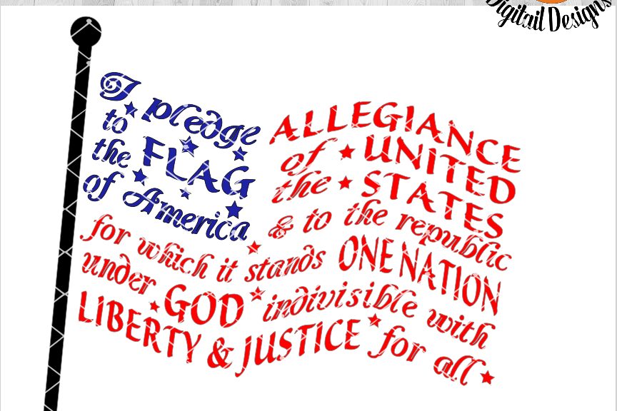 88433 Pledge Of Allegiance Svg   Eps Dxf Ai Fcm Patriotic Svg Silhouette Cricut Scan N Cut Flag Svg America Svg on shed god